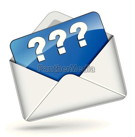 vector question mark envelope icon