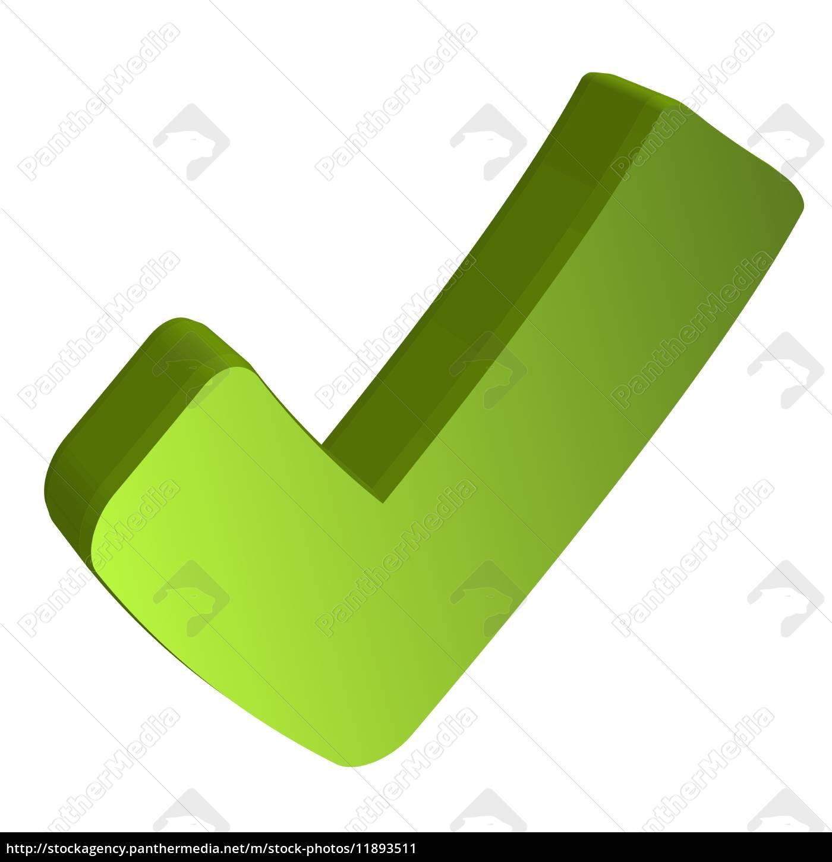 gr ner haken in 3d lizenzfreies bild 11893511 bildagentur panthermedia. Black Bedroom Furniture Sets. Home Design Ideas
