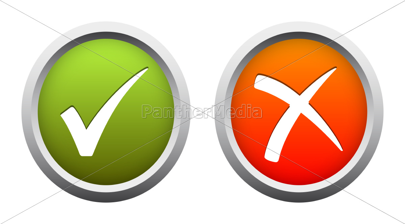 Ja Nein Button Lizenzfreies Bild 11893441 Bildagentur