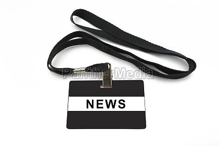 news badge isolated on white background