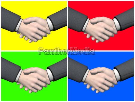 satz von geschaeftsmann handshake 3d