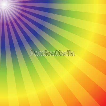 regenbogen radialen strahlen abstrakten hintergrund