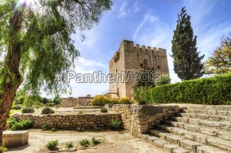 mittelalterliche burg von kolossi limassol zypern