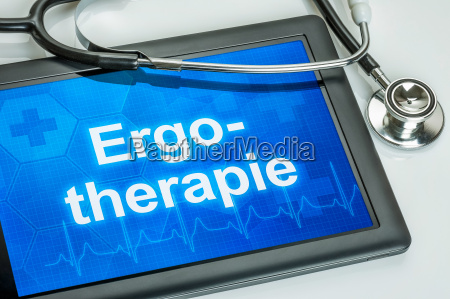 tablet with the text occupational therapy
