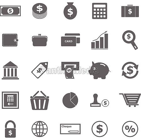 geld symbole auf weissem hintergrund