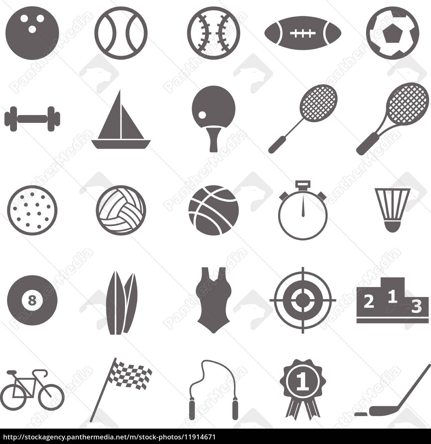 sport-symbole auf weißem hintergrund - Stockfoto - #11914671 ...