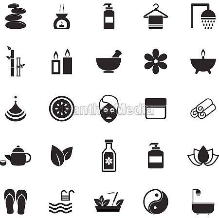 spa symbole auf weissem hintergrund