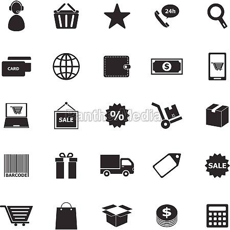 e commerce symbole auf weissem hintergrund