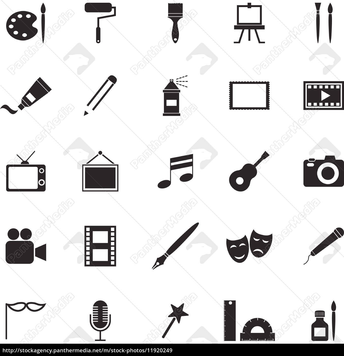 kunst-symbole auf weißem hintergrund - Lizenzfreies Bild - #11920249 ...