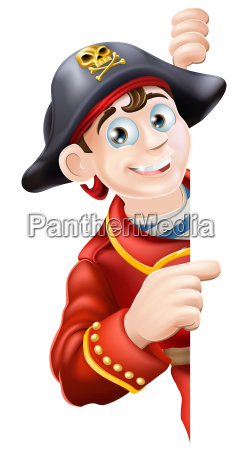 cartoon pirate pointing