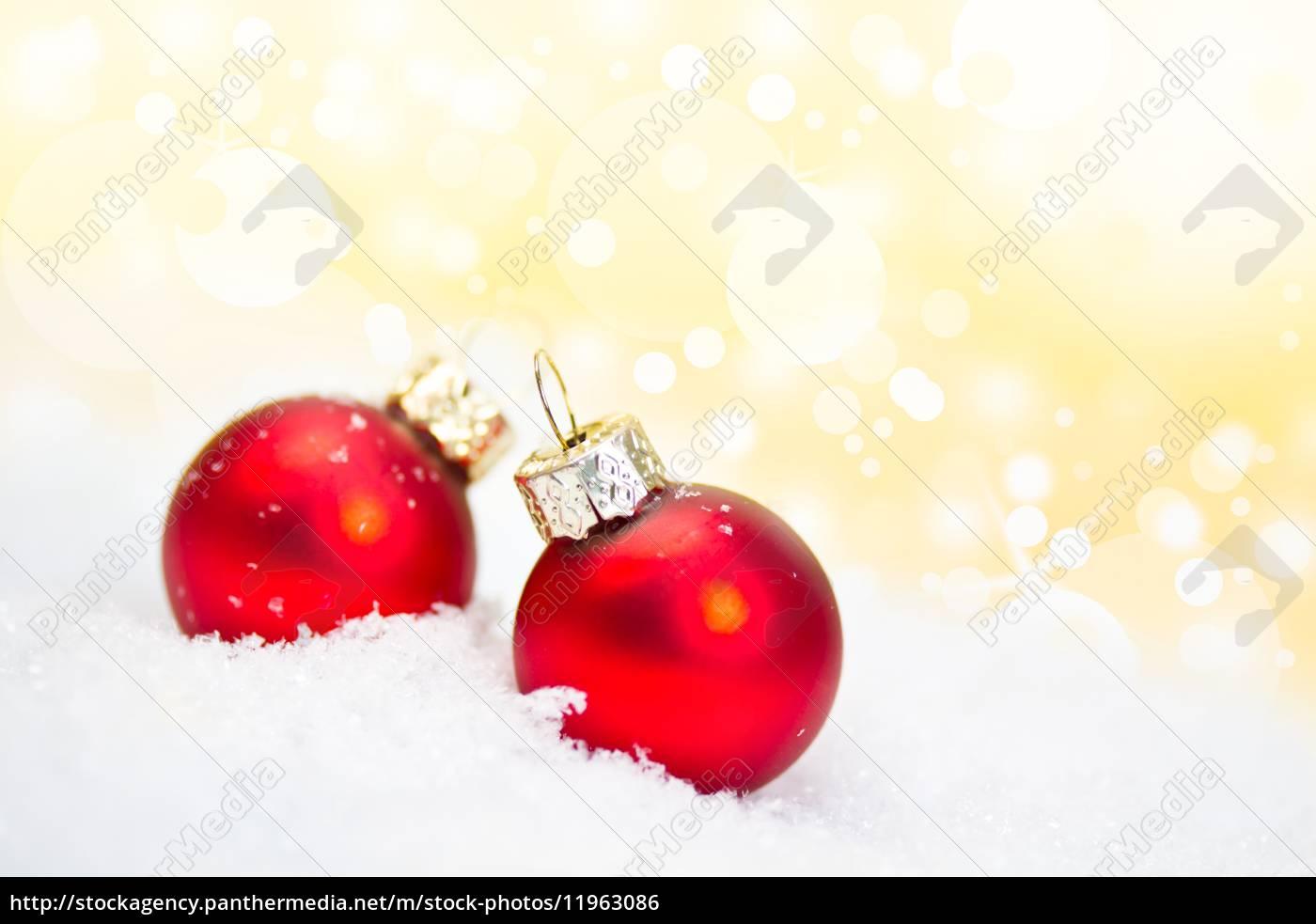 Rote Christbaumkugeln.Stock Bild 11963086 Rote Christbaumkugeln