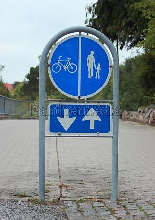 sign, to, separate, promenade, and, biking - 11963844