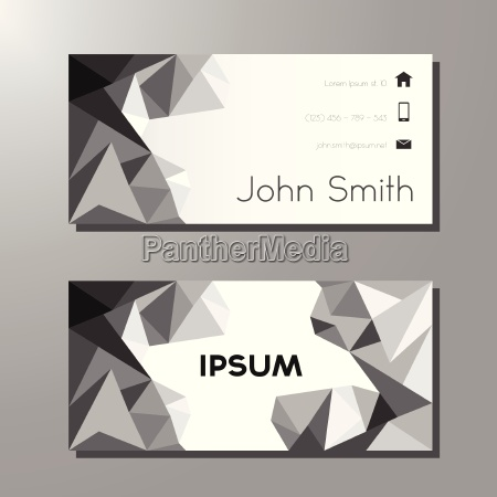 business or visit card polygon template