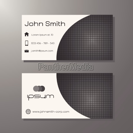visit card template black and white