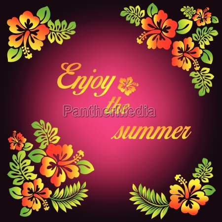 enjoy the summer pink illustration