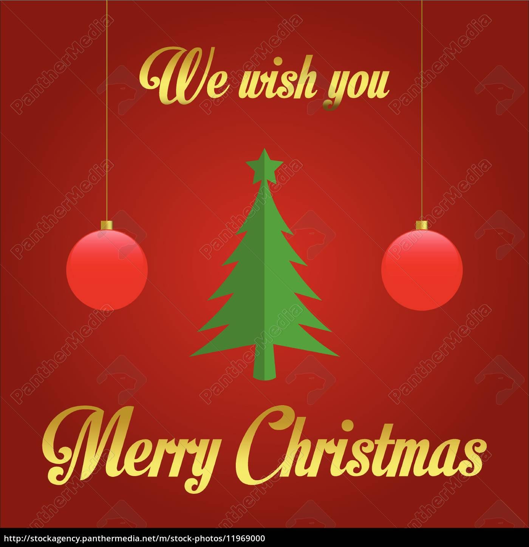 Wir Wünschen Dir Frohe Weihnachten.Lizenzfreie Vektorgrafik 11969000 Wir Wünschen Ihnen Frohe Weihnachten Illustration