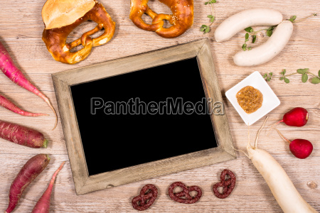 blackboard with copy space and veal
