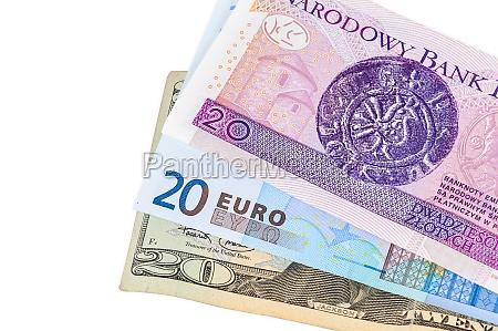 geld geschaeft finanzen bank pln dollar