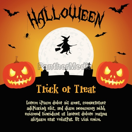 cartoon halloween abbildung mit text platzhalter