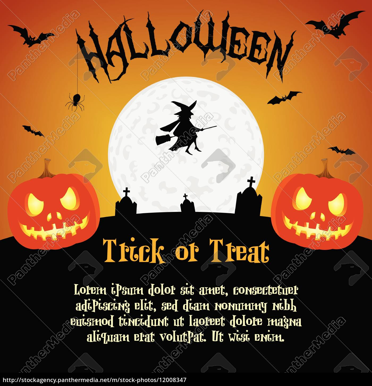 cartoon, halloween-abbildung, mit, text-platzhalter - 12008347