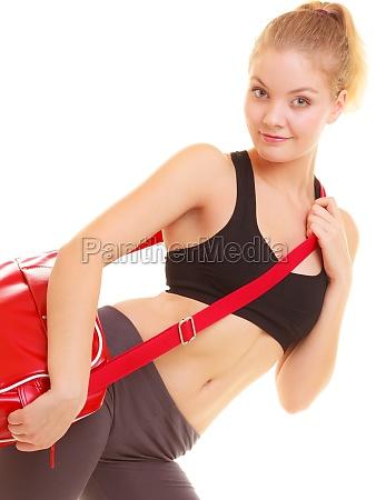 sport fitness sportliche maedchen in der
