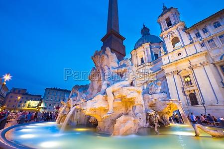 piazza navona in rom italien