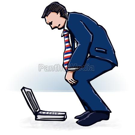 manager und laptop