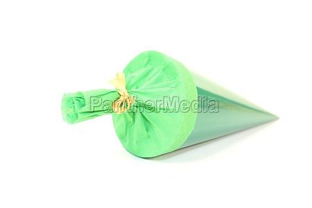 green school bag