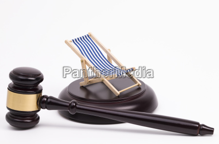gavel and deckchair