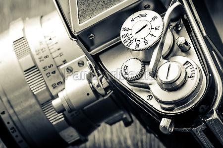 detail der alten klassischen kamera waehlt