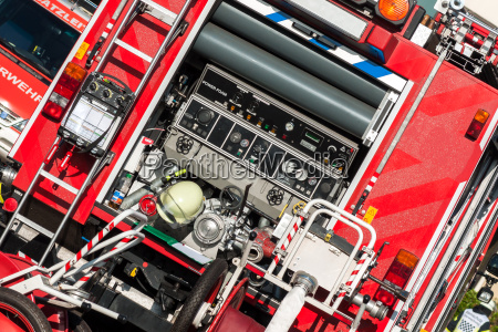 back of a fire truck with