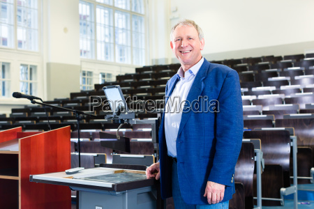 university professor in the lecture hall