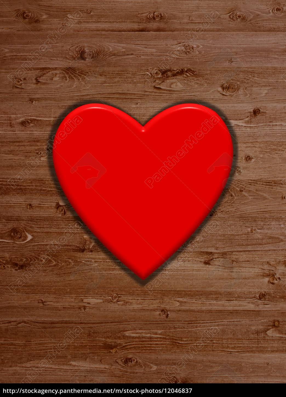 holz hintergrund und rotes herz als hintergrund lizenzfreies bild 12046837 bildagentur. Black Bedroom Furniture Sets. Home Design Ideas