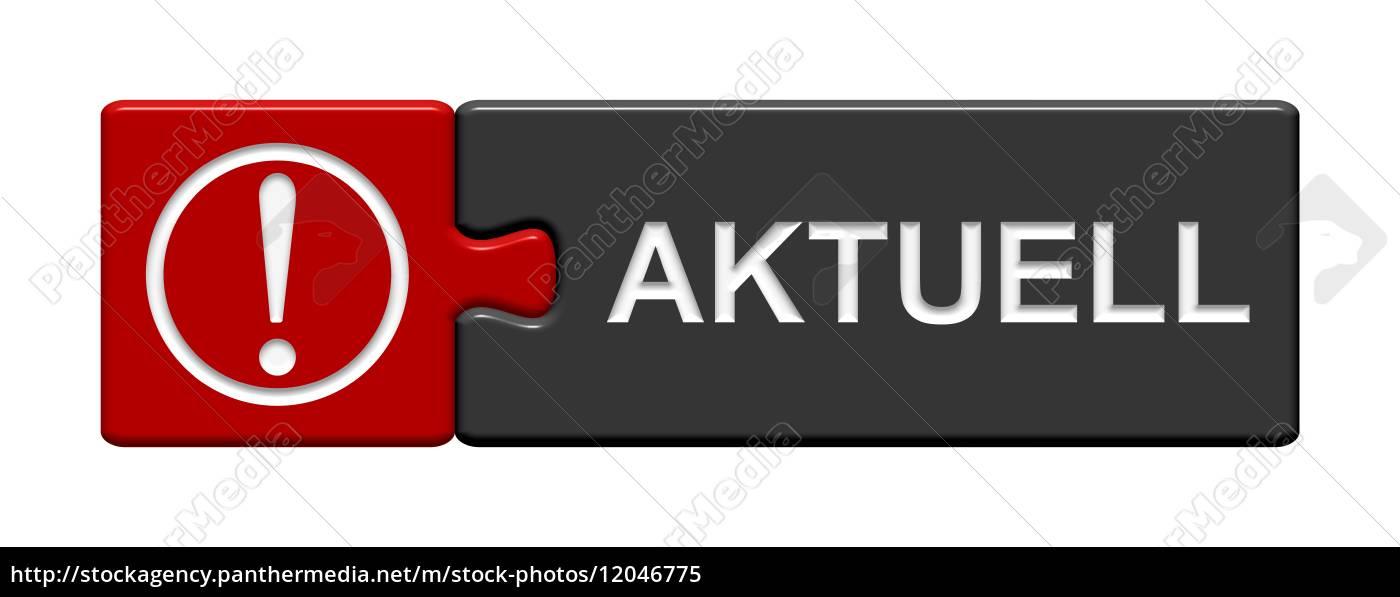 puzzle-button, rot, grau:, aktuell - 12046775