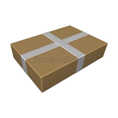 paket isoliert auf weissem hintergrund