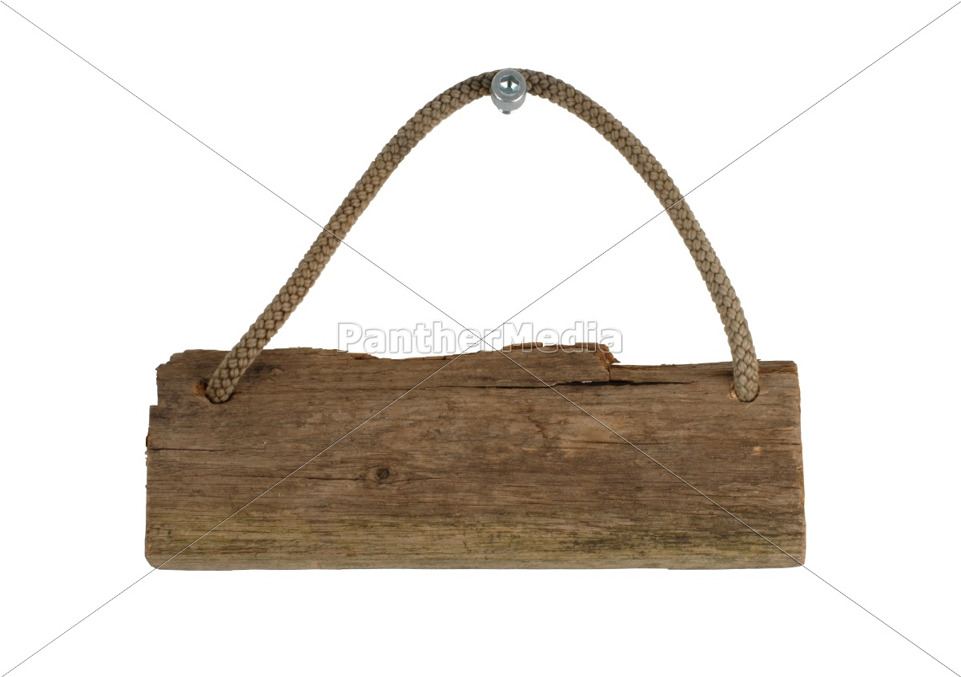 isoliertes altes holzbrett mit seil zum aufhängen - lizenzfreies