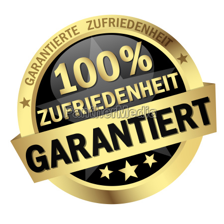 button 100 zufriedenheit garantiert