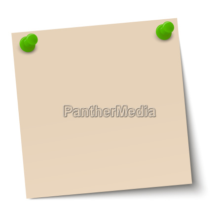 memo note with pin