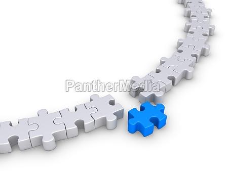 puzzle stuecke bilden einen kreis sondern