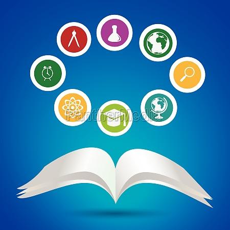 schule und bildung icons