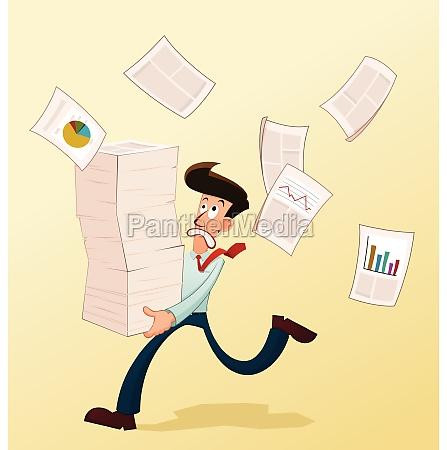 junge arbeiter und dokumente