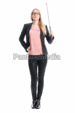 businesswoman with pointer