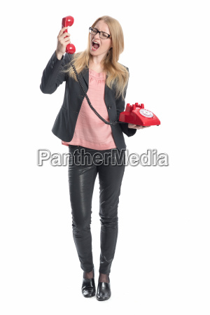 businesswoman on handset
