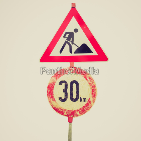 retro look sign isolated