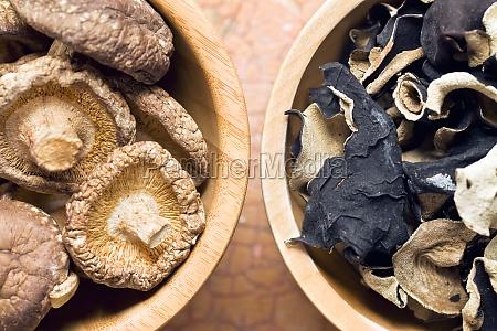 gelee ohr und shiitake pilze