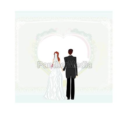 wedding invitation card with a wedding