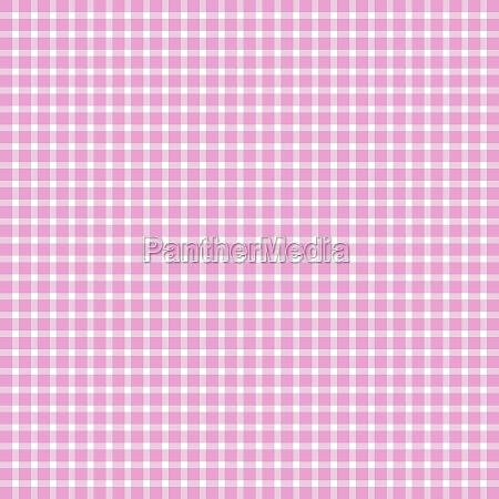 karomuster weiss pink