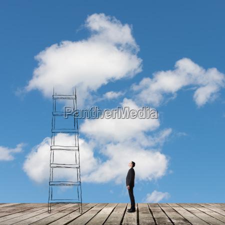 konzept der zugang zu den wolken