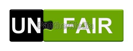 puzzle button schwarz gruen unfair fair