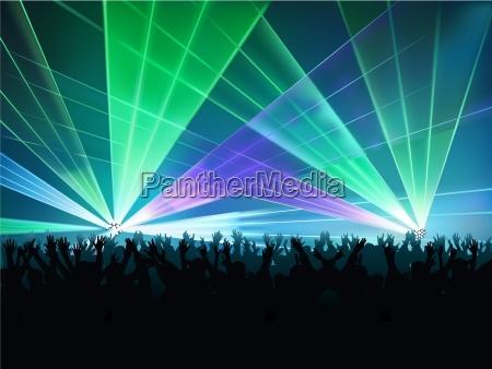 big laser show farbiger hintergrund